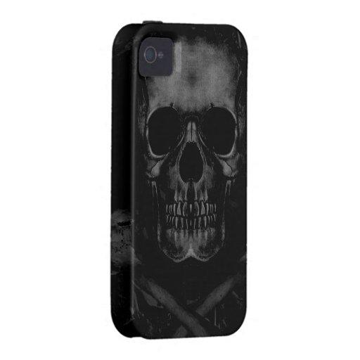 Black Skull iPhone 4 Case-Mate Tough