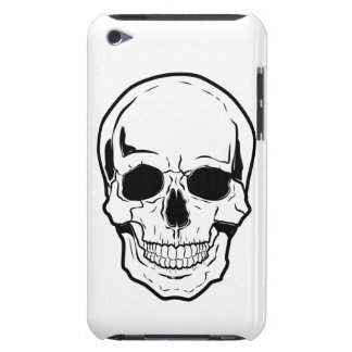 Black Skull Laughter Barely There iPod Covers