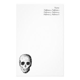 Black Skull. Stationery Paper