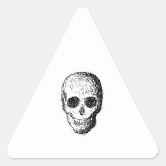 Black Skull. Triangle Sticker
