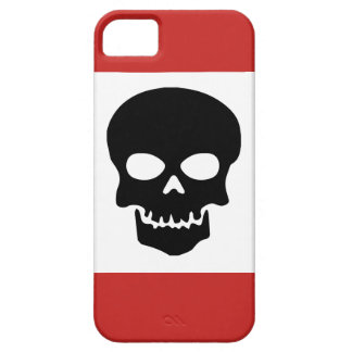 Black Skull with Red Barely There iPhone 5 Case