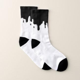 Black Slime Dripping Socks 1
