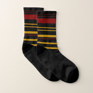 Black Small All-Over-Print Socks 1