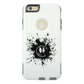 black smile face spot art OtterBox iPhone 6/6s plus case