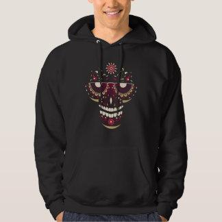 Black Smiling Skull Mask Long Sleeve Sweatshirt