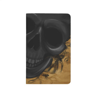 Black Smiling Skull surrounded by Bats and Smoke Journal