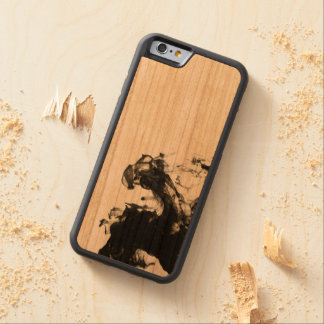Black Smoke Carved Cherry iPhone 6 Bumper Case