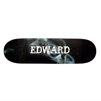 black smoke, EDWARD - Customized Skateboard