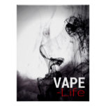Black Smoke Vape Life Premium Posters