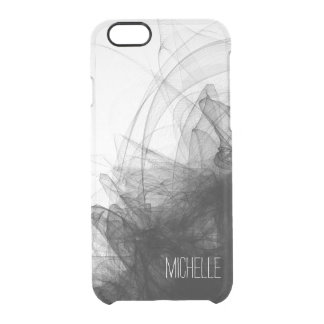 Black Smoke with Name Clear iPhone 6/6S Case
