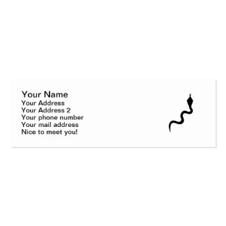 Black snake pack of skinny business cards