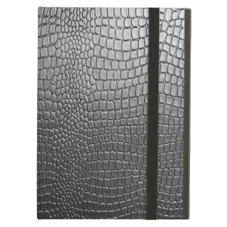 Black Snake Skin Pattern- Leather Look Case For iPad Air
