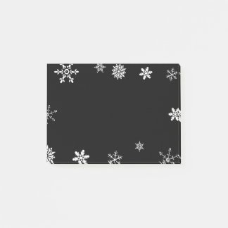 Black Snowflake Post-it Notes