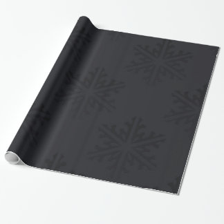 Black Snowflakes Chic Trendy Holiday Christmas Wrapping Paper