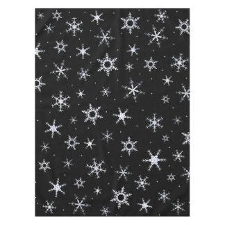 Black Snowflakes Tablecloth
