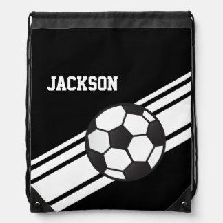 Black Soccer Stripes Rucksack
