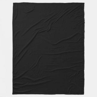 Black Solid Colour Sophisticated Modern Fleece Blanket