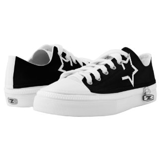 Black Solo Star & Royal Crown 101 Low Tops