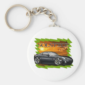 Black Solstice Coupe Basic Round Button Key Ring