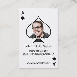 magician business cards zazzle au. Black Bedroom Furniture Sets. Home Design Ideas