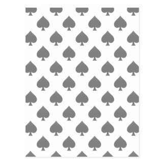 Black Spade Pattern Post Cards