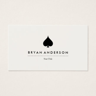 Black Spade Symbol Business Card