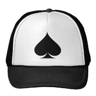 Black spade symbol trucker hat hat