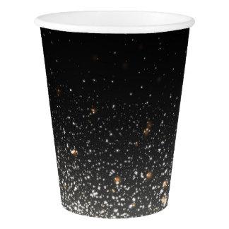 Black Sparkle Paper Cups