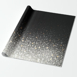 Black Sparkle Wrapping Gift Paper