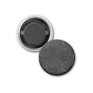 Black Sparkles 3 Cm Round Magnet