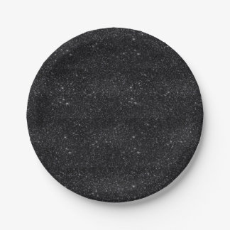 Black Sparkles 7 Inch Paper Plate