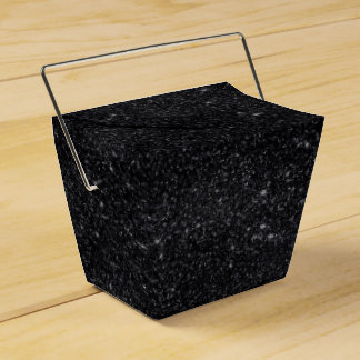 Black Sparkles Favour Box