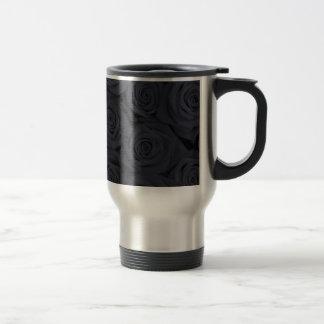 Black Spectacular Roses Coffee Mugs