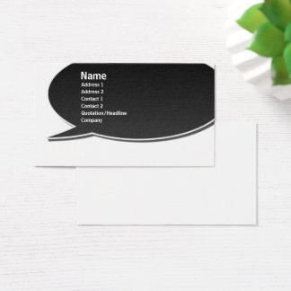 Black Speech Bubble Card