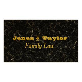 Black Spekled Marble Stone Gold Letter Modern Pack Of Standard Business Cards
