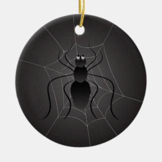 black spider ceramic ornament