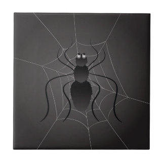 black spider ceramic tile