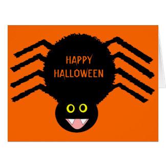 Black Spider Halloween Card