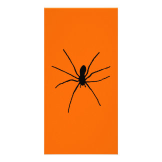 Black Spider Template Photo Greeting Card
