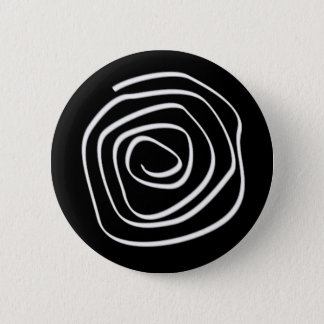 Black Spiral 6 Cm Round Badge