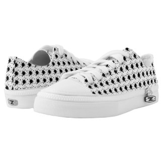 Black Splash Zipz Low Top Shoes US Men/US Women