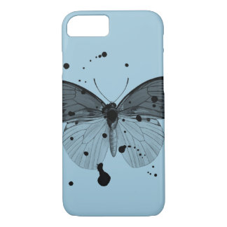 Black Splatter Butterfly iPhone 7 Case