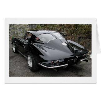 Black Split Window Classic Corvette Card