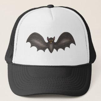 Black Spooky Flying Bat Halloween Trick-or-Treat Trucker Hat