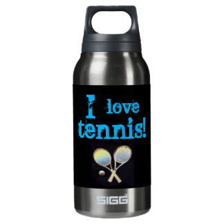 Black sports water thermo insulated water bottle
