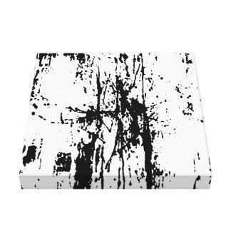 black spots canvas print