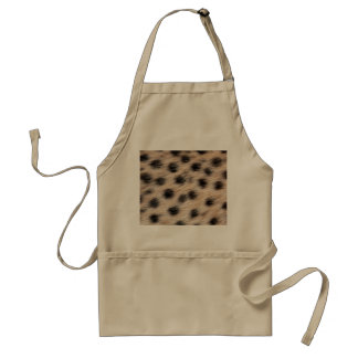 black spotted Cheetah fur or Skin Texture Template Adult Apron