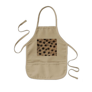 black spotted Cheetah fur or Skin Texture Template Kids Apron