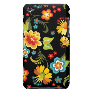 Black Spring Floral Case-Mate iPod Touch Case