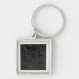 Black Square Key Ring